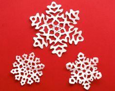 kirigami snowflakes set one