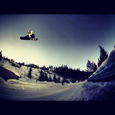 #YESSnowboards photo. #snowboarding #jump