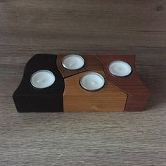Puzzle tealight holder, home decoration