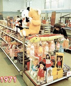 The toy department in a new look small Woolworth store after 'crash-conversion' to self-service as part of the chain's response to the decim...
