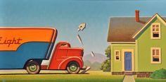 "For Sale on - ""Knock- Knock"", Acrylic Paint, Panel by Robert LaDuke. Offered by Bonner David Galleries. Joseph Lorusso, Eve Plumb, West Egg, Richard Williams, Art Deco Artists, Garage Art, Art Deco Posters, Retro Futurism, Fantastic Art"
