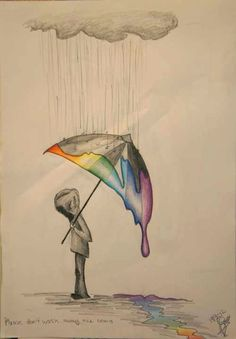 I would love to see the rain the rainbow putting the color on the umbrella
