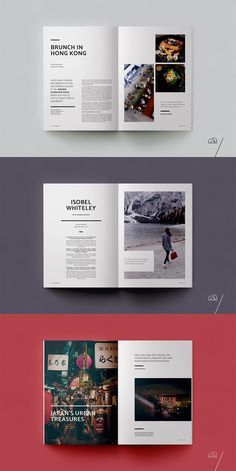 Travel Magazine – Xplore XPLORE Travel Magazine is a professional, modern template with a focus on exploration. The layouts have been designed with generic travel themes in mind to cover everything from guides to. Food Magazine Layout, Magazine Layout Design, Book And Magazine, Magazine Page Layouts, Magazine Design Inspiration, Print Magazine, Design Editorial, Editorial Layout, Black And White Magazine