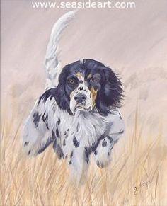 Artistic Watercolor Golden Retriever Dog Print Art Print Gold Blue Rust M-A Reed