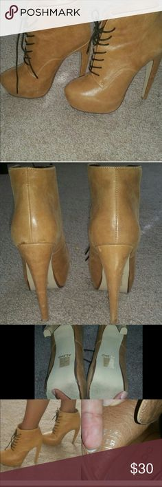 Agreda. Aldo Booties Re-Posh.  Photos are from original posh seller.  Purchased but didn't wear but just tried on.  Selling bc I need room in my closest.  Cute and comfortable .  Please read description and detail above.  Purchased for $35 but willing to take all reasonable offers. ALDO Shoes Ankle Boots & Booties