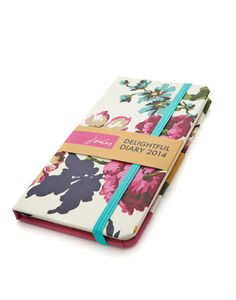 Joules null Delightful 2014 Diary, Creme Floral.                     Never forget an appointment and make note of your memories in style with this new diary, featuring original illustrations and prints.