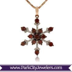 "Rose Gold White Diamond & Cognac Diamond Snowflake Pendant Dimensions: tall x wide"" Snowflake Jewelry, Colored Diamonds, Belly Button Rings, Snowflakes, Sparkle, Rose Gold, Jewels, Drop Earrings, Pendant"