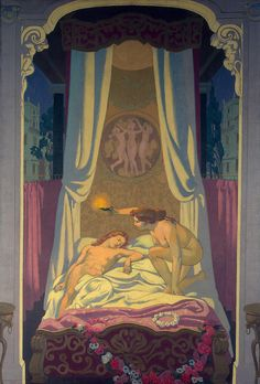 Panel 3. Psyche Discovers that Her Mysterious Lover is Eros - Maurice Denis