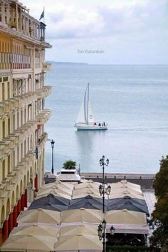 Room with a view, Aristotelous square, Thessaloniki, Greece. Beautiful Islands, Beautiful Places, Places To Travel, Places To Visit, Greek Sea, Travel And Tourism, Ancient Greece, Greece Travel, Greek Islands