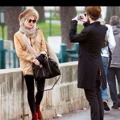 Sienna miller. Cute winter style