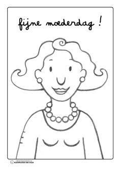 Kleurplaat mama Jules