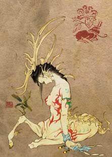 Pixie es un animal sagrado de cabeza humana y cuerpo cervuno, con dos cuernos. Dicen que ampara a la gente del mal y la desgracia.
