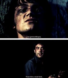 "(gif set) Sam and Azazel!John ||| Supernatural 1x22 ""Devil's Trap"""