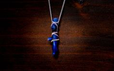 Blue Coral Necklace by LaRocCoral on Etsy, $98.99