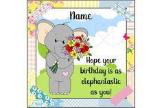 Your place to buy and sell all things handmade It's Your Birthday, Card Birthday, Beautiful Birthday Cards, Elephant Birthday, Motivational Gifts, Cute Elephant, Handmade Items, Handmade Gifts, Kids Cards