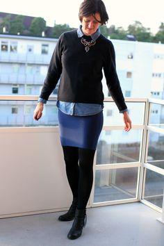 Tall Girl's Fashion // Styling a denim shirt