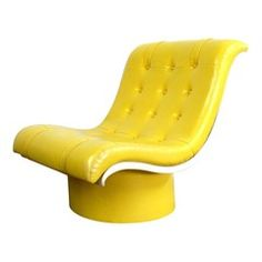 Hey, look what I found! Check out Bright Yellow Tufted Lounge on Bezar