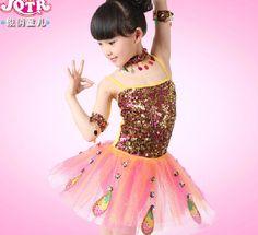 Wholesale Ropa Ropa de rendimiento de las niñas lentejuelas falda de la liga del pavo real Danza Ropa niños del vestido de Ballet Moderno América Vestuario teatral Danza, Free shipping, $11.52/Set | DHgate Mobile