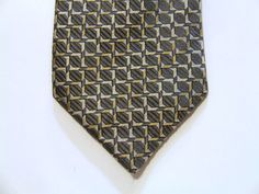 Canali Italian HIgh Fashion Silk Tie Pewter Gold Designer Necktie Elegance…