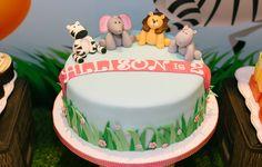 Jungle themed birthday cake at children's jungle birthday party, Hong Kong, Sweet Soirées #hongkong #jungle #party