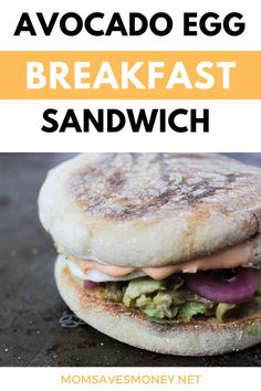 Easy and healthy avocado and egg breakfast sandwich recipe with a savory Sriracha sauce and pickled onions on a Toasted English muffin. This hearty breakfast sandwich, ready in just 10 minutes, will satisfy your morning cravings and is the perfect way to start your day. Get the recipe. Breakfast Sandwich Recipes, Avocado Breakfast, Delicious Breakfast Recipes, Pickle Onions Recipe, Money Saving Mom, Sriracha Sauce, Pickled Onions, Onion Recipes, Avocado Egg