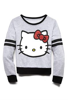 Sporty Hello Kitty Sweatshirt (Kids) | FOREVER21 girls - 2000092024