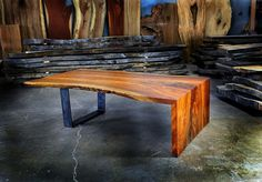 Live Edge Table Walnut Coffee Table by Greenwoodbay