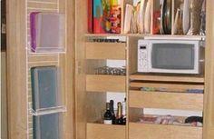 Attractive Kitchen Cabinet Shelf Organizers for Small Kitchens Small Kitchen Pantry, Kitchen Pantry Design, New Kitchen, Small Kitchens, Kitchen Ideas, Kitchen Cabinet Shelves, Kitchen Cabinet Organization, Kitchen Cabinets, Kitchen Appliances