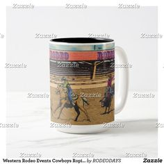 Western Kitchen Decor, Rodeo Events, Rodeo Cowgirl, Bull Riding, Artwork Design, Morning Coffee, Cowboys, Dinnerware, Westerns