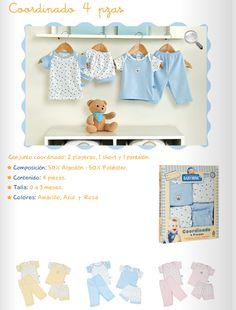 Coordinado 4 piezas/Conjunto 2 playeras, 1 short, 1 pantalón/ 3 colores