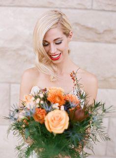Elegant Peach and Periwinkle Wedding Inspiration | Magnolia Adams Photography | Inspire Events | Bridal Musings Wedding Blog