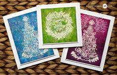 Inked Backgrounds by Jennifer McGuire Ink using the new Tim Holtz STAMPtember® Christmas exclusive!