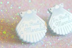 Mermaid Jewelry // Im Really a Mermaid Blue Shell by ilovecrafty, £10.00