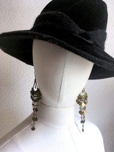 SOLD----------Boho Earrings Vintage dangle gypsy earrings bohemian earrings hippie earrings dangle cascading by SuitcaseInBerlin on Etsy