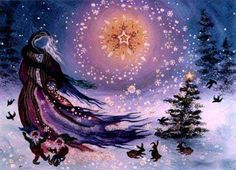 Over most of Western Europe, particularly in those areas connected with the ancient Celts, December the shortest day of the year fell during the Druidic festival of 'Yule'. Today it is better known as the festival of the 'Winter Solstice'. Pagan Yule, Wiccan, Magick, Witchcraft, Hopi Prophecy, Pagan Christmas, Magical Christmas, Christmas Images, Christmas Decor