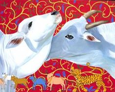 Online Art Gallery: Buy Indian Art Online, Paintings, Prints and Indian Illustration, Kalamkari Painting, Cow Art, Indian Paintings, Art Model, Indian Art, Online Art Gallery, Painting Inspiration, Drawings