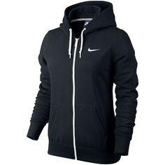 e887ec29c6e7 Nike Club Fleece Full-Zip Hoodie Black ( 55) ❤ liked on Polyvore featuring