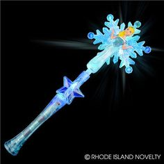 LIGHT-UP SNOWFLAKE PRINCESS WAND Ent-ice your little snow princesses with these 17.5-inch Light-up Princess Wand with Sound. With light-up princess and snowflake, your guests are sure to have a flurry of fun. #halloween #trickortreat