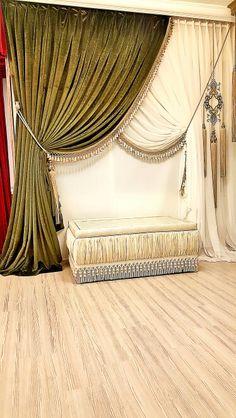 #essaperde #tassel #kadife #green ستارة cortinas curtain