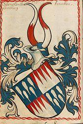 Wappen der Schenken von Limpurg aus Scheiblers Wappenbuch 1450–1480