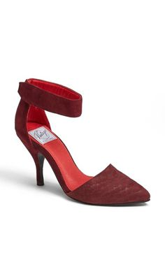 Free shipping and returns on Jeffrey Campbell 'Bridges' Pump at Nordstrom.com. A vintage-inspired pump with a high heel is styled with a sassy ankle strap and pointy toe with exotic texture.