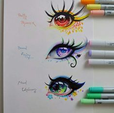 Ojos de seres mitológicos Kreslení Tváří, Úžasné Kresby, Realistické Kresby, Pěkné Kresby, Módní Nákresy, Tipy Na Kreslení, Kresby Tužkou, Kresby Disney, Nápady Na Kreslení