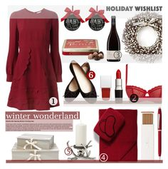 """""""winter wonderland - whishlist"""" by sophie-martina ❤ liked on Polyvore featuring Expressions, Chantelle, Faber-Castell, Sofia Cashmere, Givenchy, Nina Campbell, RED Valentino, Cross, Williams-Sonoma and Sage & Co."""