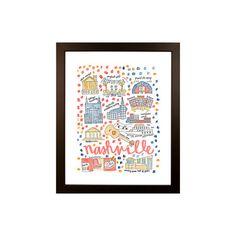 Nashville Map Print by Evelyn Henson