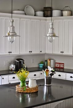 Willow Hill Farm Girl: The Heart of Our HomeIkea pendants. They still catch my eye in magazines.