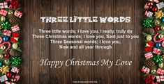 25 Merry Christmas Love Poems for Her and Him Merry Christmas Quotes, Christmas Words, Christmas Images, Love Poem For Her, Love Poems, Love Quotes, Funny Poems, When You Love, Image Hd