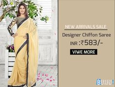 Cream Chiffon Saree with Full Embroidery Blouse Product code: GLSA90C259 Retail price: 612/- Sale price : 583/-