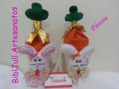 Páscoa - canequinhas de coelhinhos para serem preenchidas com chocolate. Visite facebook BibíJulí Artesanatos
