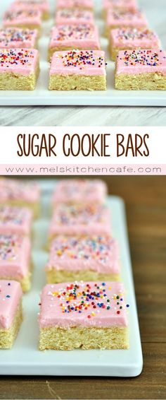 These sugar cookie bars are phenomenal. If you don't want to chill, roll or cut, but still want the gloriousness of sugar cookie, these are the bars for you.