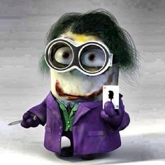 Monsters don't live under your bed, they live inside your head. Joker minion too freaking cute! My favorite.